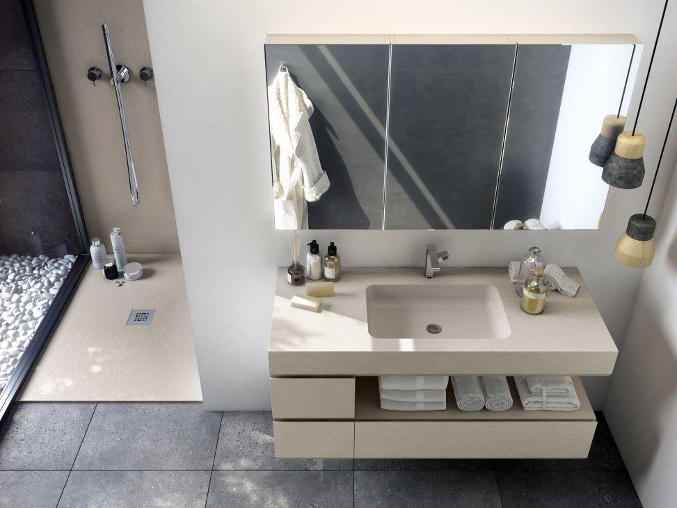 Sprchový kout, umyvadlo, skříňka FIORA